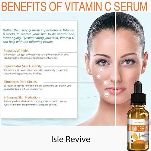 Deze foto geeft een beeld wat de voordelen van het gebruik van vitamine c serum zijn voor de huid.