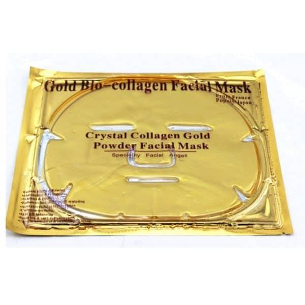 Dit gouden collageen masker zorgt ervoor dat u huid steviger en egaler wordt. Dit gezichtsmasker heeft door zijn gouden voorkomen een luxe uitstraling.