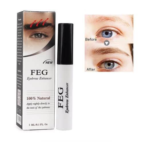 "alt=""een flesje FEG wenkbrauw serum 3 ml - feg eyebrow serum 3 ml - kleur flesje is wit"""