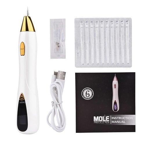 Dit is een laser plasma pen om moedervlekken, wratjes, donkere plekjes, hyperpigmentatie en andere plekjes mee te verwijderen. Deze laser plasma pen is voorzien van een led lampje en lcd display.