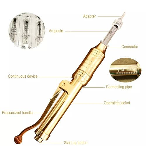Dit een pen dit werkt als een filler. Met deze pan kan men lippen en rimpels opvullen met hyaluron zuur.
