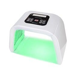Op deze foto is een lichttherapie led apparaat te zien voor thuisgebruik. Dit apparaat voert led lichttherapie uit. Dit noemt men ook wel photon therapie.