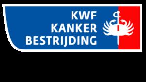 Dit is het logo van de KWF kanker bestrijding