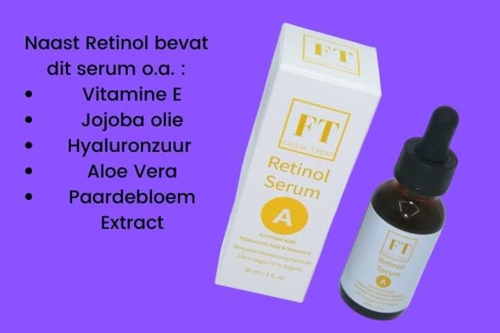 Dit is een afbeelding van een flesje Retinol serum 30 ml. Het retinol serum wordt gebruikt om huidproblemen aan te pakken. Retinol wordt ook wel vitamine A zuur genoemd.