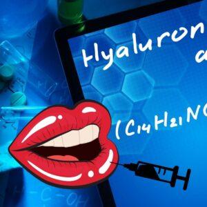 Dit is een afbeelding waar op lip vullers - lip fillers worden afgebeeld - de lip fillers zijn op basis van hyaluronzuur fillers