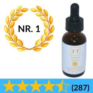 Dit is een flesje retinol serum 30 ml met hyaluronzuur en vitamine e. Retinol serum wordy gebruikt voor de huid. retinol is een anti-aging product